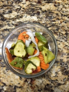 spicy pickled veggies